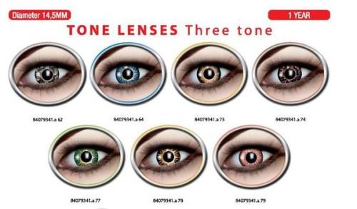 Three tone lenses
