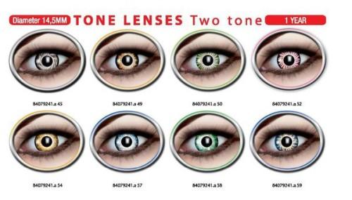 Two tone lenses